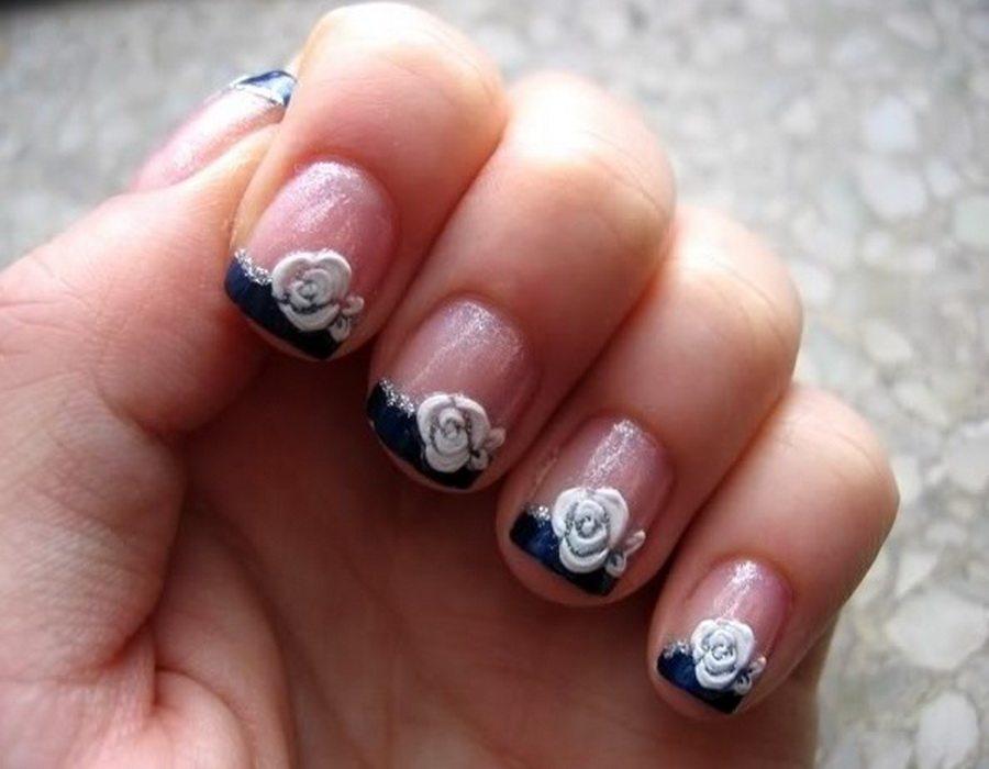 Дизайн ногтей очень коротких
